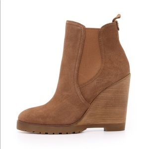 Michael Kors Brown Wedge Booties